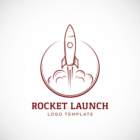 Start up Rocket Space Ship Abstract