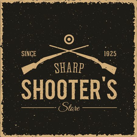 sharpshooter: Sharpshooters Store Abstract Vintage Label or Logo Template