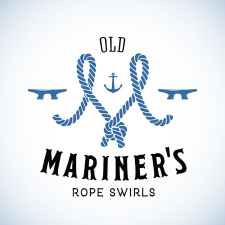 mariner: Old Mariner Abstract Vector Retro  Template or Vintage Label with Typography. Isolated