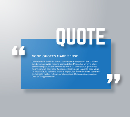 soft colors: Rectangle Motivation Quote Template Vector Background with Realistic Soft Shadows. Good for Inspiration Texts or Any Information. Horizontal Layout. Possible Use as a Business Card Template.