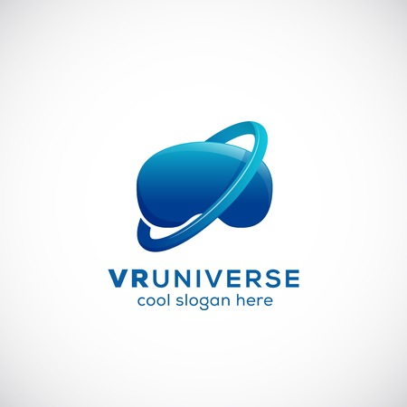 virtual technology: Virtual Reality Universe Abstract Icon, Sign, or Template. Isolated. Illustration