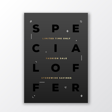 Special Offer Fashion Sale Poster Card Or Flyer Template Modern
