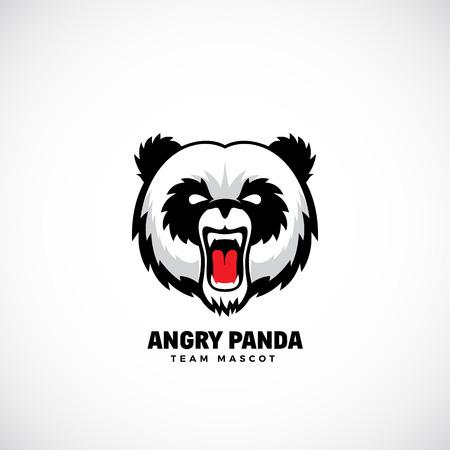 Angry Panda Abstract Vector Team Mascot.