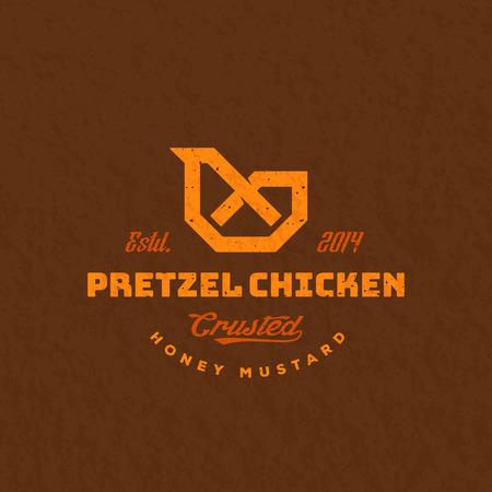 Pretzel chicken design.