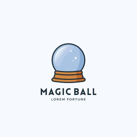 Magic Ball Abstract Vector Sign, Emblem or Logo Template. Fortune Future Concept Symbol.