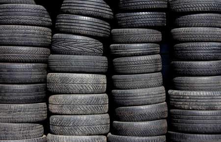 Pile of black tires