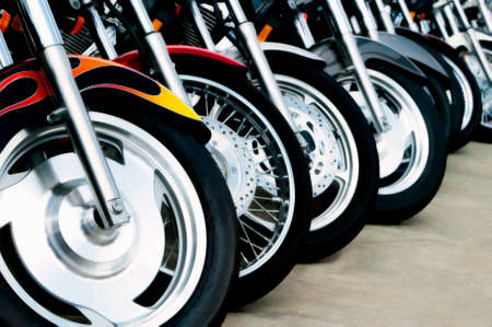 Detail shots of motorcycles. Stock Photo - 1415249