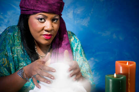 Gypsy fortune teller. Stock Photo - 1674655