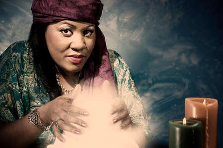 Gypsy fortune teller.