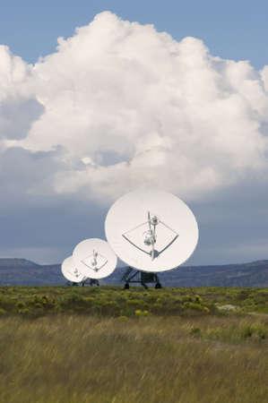 Radio Telescopes in New Mexico on a cloudy day Banco de Imagens