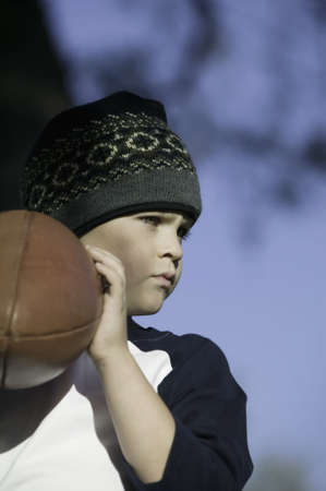 Boy with Football photo
