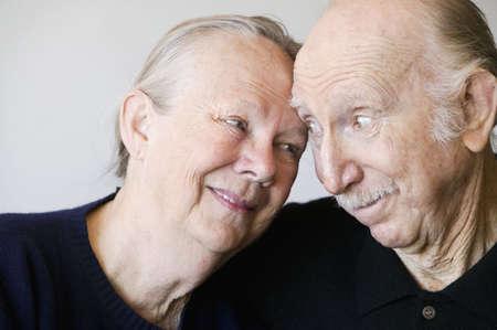 Close-up of senior couple embracing Stock Photo - 2341974