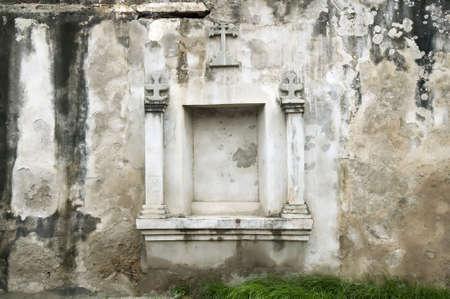niche: Niche in an old wall near El Convento of Granada Nicaragua Stock Photo