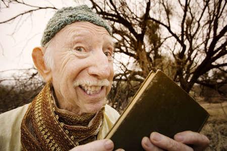 preaching: Wise man preaching in the high desert