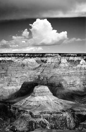 large formation: Large cumulus cloud formation above the Grand Canyon