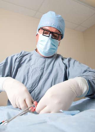Veterniarian realizar esteriliza la operación en pequeño perro  Foto de archivo - 6099694