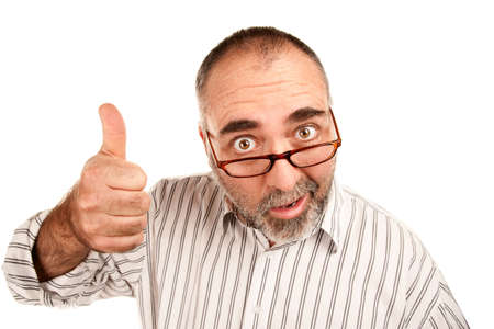 Mature adult male giving a thumbs up gesture Stock Photo - 6179362