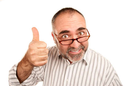 Mature adult male giving a thumbs up gesture Stock Photo - 6179384
