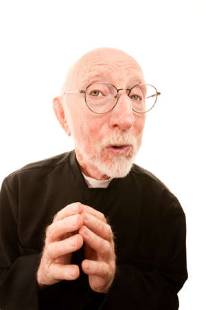episcopal: Friendly Priest or Pastor on a White background