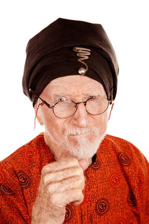 new age: Enojado New Age Man agitaci�n su pu�o Foto de archivo