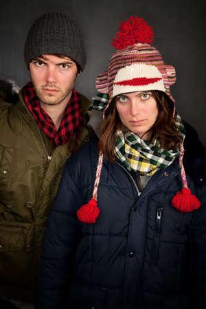 Hipster pareja en ropa para clima fr�o Foto de archivo - 6570370