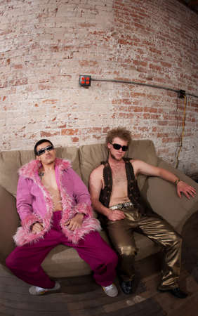 Laid Back at a 1970s Disco Music Party photo