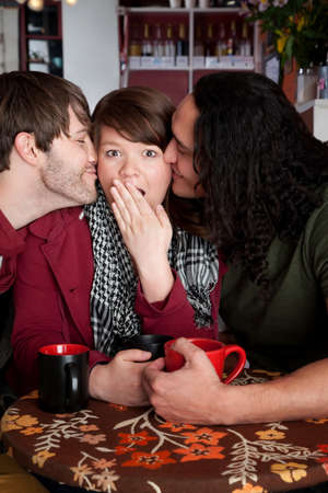 smooch: Woman caught in a surprise love triangle