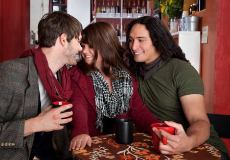 polygamy: A complicated love triangle at a coffee house