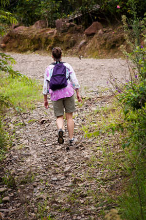Female hiker on a rugged trail in Costa Rica 免版税图像 - 7478705