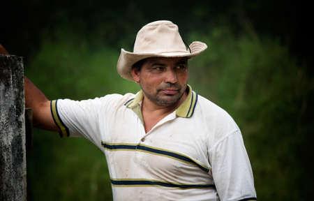 Handsome male ranch hand in Costa Rica Reklamní fotografie