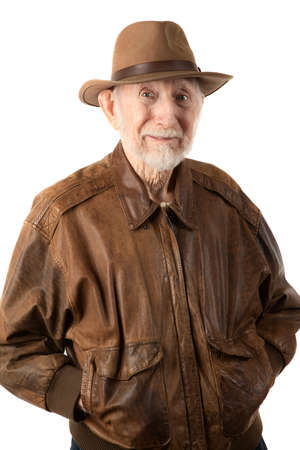 archaeologist: Adventurer or archaeologist in brown leather jacket