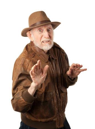 aventurero: Aventurero o arque�logo en la chaqueta de cuero marr�n