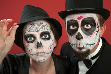 oldman: Couples on Day of the Dead Makeup