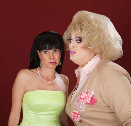 tries: Drag queen tries to kiss a confused woman