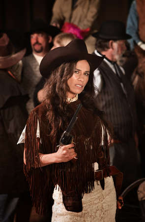 gunfighter: Suspicious looking Native American gun fighter with dagger