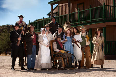 Rowdy: Group of characters for an American old west theme