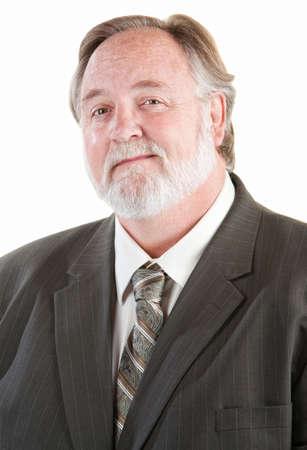 blazer: Confident adult man smiling over white background