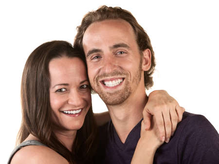 Close up of happy young couple holding each other Stock Photo - 16300106
