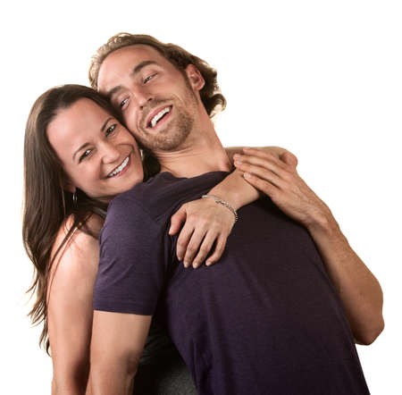 Close up of cute young couple embracing each other Stock Photo - 16473024