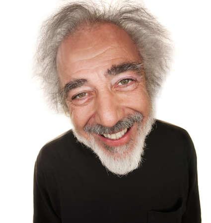 Happy white senior citizen in black shirt with smile Stock Photo - 16473001
