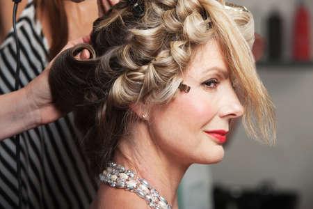 Calm mature Caucasian woman in beauty salon Stock Photo - 16578068
