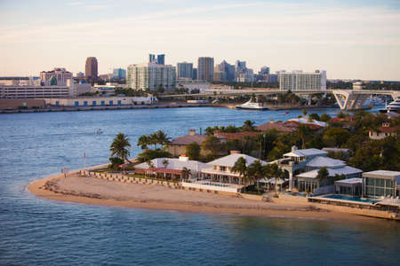 Fort Lauderdale High End Homes and  City Skyline