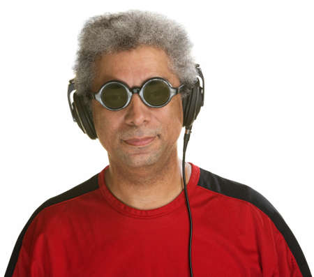 easygoing: Easygoing Arab man with sunglasses and headphones