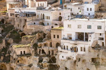 Carved Hill Dwellings in Cappadocia Turkey