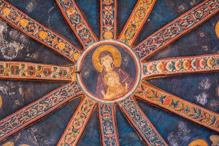 chora: Jes�s y Mar�a Mural de techo en la iglesia de Chora Editorial