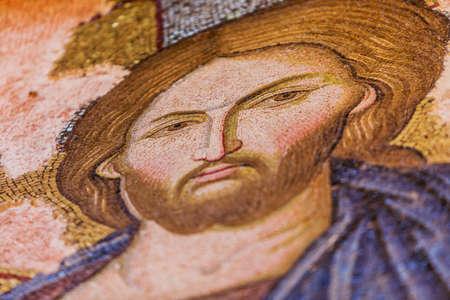 chora: Jesus Mosaic in Istanbul Chora Church Stock Photo