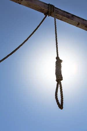 gallows: Hangmans Noose Hangs In The Gallows