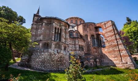 chora: Exterior of Chora Church in Istanbul Turkey