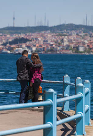 Young Turkish Couple Along the Bosphorus