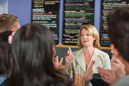 proprietor: Impatient customers and stressed out cafe owner